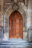 Old Richly carved oak door, Europe Royalty Free Stock Photos