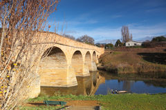 Old Richmond Bridge in Tasmania. The oldest bridge in Tasmania, built by convicts, and said to be haunted royalty free stock photography