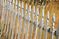 Old rickety fence Stock Images