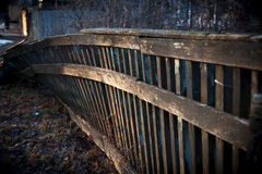 Old rickety fence. At the house of a lonely man royalty free stock photography