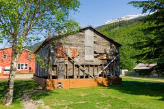 An old, rickety house at skagway Royalty Free Stock Images