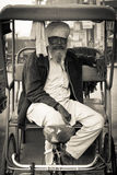 Old rickshaw driver of Amritsar, Punjab, India Stock Images