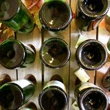 Old riddling rack. Wine rack, Champagne royalty free stock photography