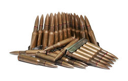The old rifle cartridges Stock Images