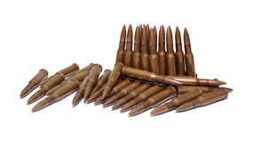 The old rifle cartridges Royalty Free Stock Photos
