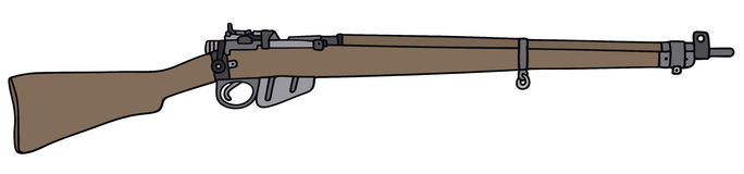 Old rifle. Hand drawing of a old military rifle Royalty Free Stock Photo