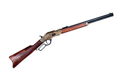 Old rifle winchester Royalty Free Stock Photography