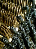Old rifles and ammunition to them Stock Photography