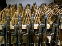 Old rifles and cartridges Stock Photos