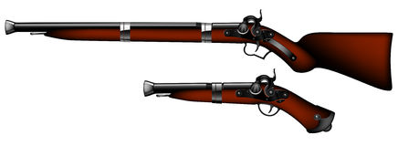 Old rifles and pistols Royalty Free Stock Images