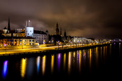 Old Riga at Christmas Time stock photography