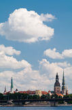 Old Riga panorama. With Castle of Latvian President in center Stock Photography