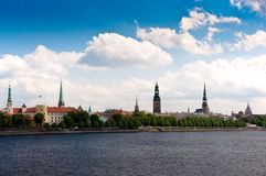 Old Riga Panorama Stock Photo