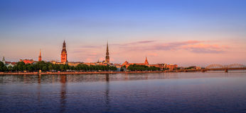 Old Riga Panorama, Latvia, Europe. Classic Old Riga Panorama, Latvia, Europe Royalty Free Stock Photography