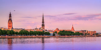 Old Riga Panorama, Latvia, Europe. View from Kipsala Royalty Free Stock Photography