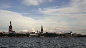 Old Riga panorama. stock video footage