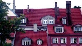 Old Riga rooftops, Latvia 2 stock footage