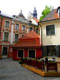 Old Riga street, Latvia. Stock Photo