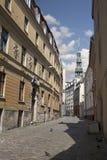 Old Riga streets, Latvia Stock Photos