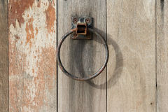 Old Ring Wooden Door Stock Image