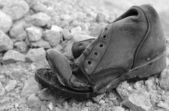 Old ripped boot Royalty Free Stock Photography