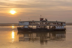 Old River Boat - Irrawaddy River - Myanmar (Burma) Royalty Free Stock Images