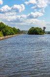 Old river gateway Royalty Free Stock Image