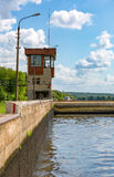 Old river gateway Royalty Free Stock Photos