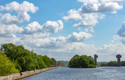 Old river gateway Stock Photography