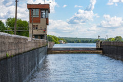 Old river gateway Royalty Free Stock Photography