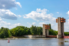 Old river gateway Royalty Free Stock Images
