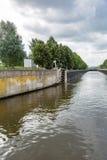 Old river gateway Stock Photo