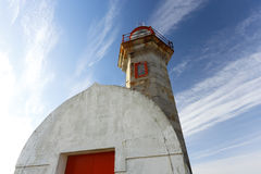 Old river mouth lighthouse Stock Images