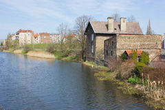 Old riverside of Gdansk Stock Images