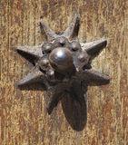 Old Rivet. Detail of old iron rivet in ancient door Stock Photography
