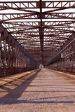Old riveted steel bridge Royalty Free Stock Image