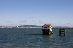 The old RNLI lifeboat station, Mumbles, Swansea stock image