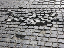 Old road. Cobbled road royalty free stock photo