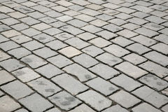 Old road. Old city road from a stone blocks Royalty Free Stock Photo
