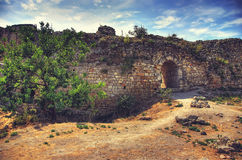 The old road. Ancient ruins. Arch. landscape background Royalty Free Stock Image