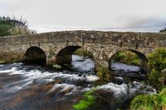 Old Road bridge on Dartmoor Stock Photos