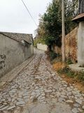 Old road in city. Picture of old road in city stock images