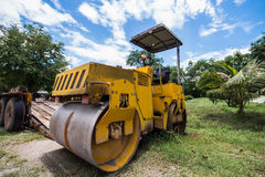 Old road compactors Stock Photo