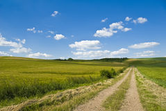 Old road in French countryside Royalty Free Stock Images
