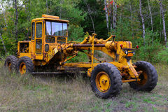 Old road grader Royalty Free Stock Photo