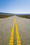 Old Road Markings Stop in Countryside Stock Images