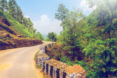 Old road in mountains Stock Image