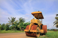 An old road roller Royalty Free Stock Photo