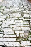 Old road Roman Empire time. Croatia Pula. Street day time royalty free stock photo