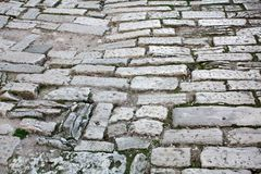 Old road Roman Empire time. Croatia Pula. Street day time royalty free stock photography